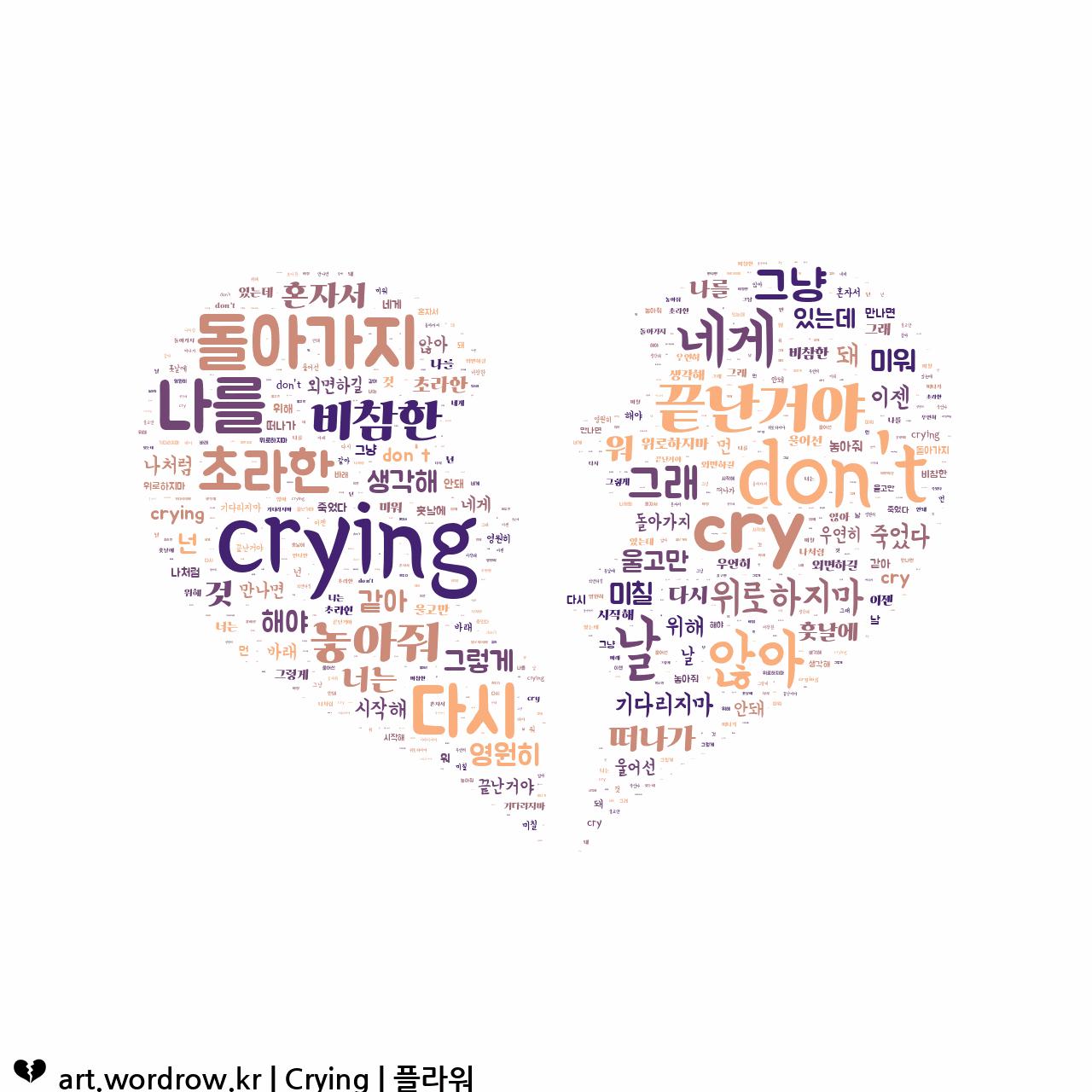워드 클라우드: Crying [플라워]-33